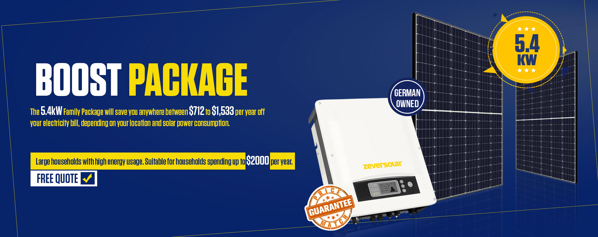 5.4 KW Family Package