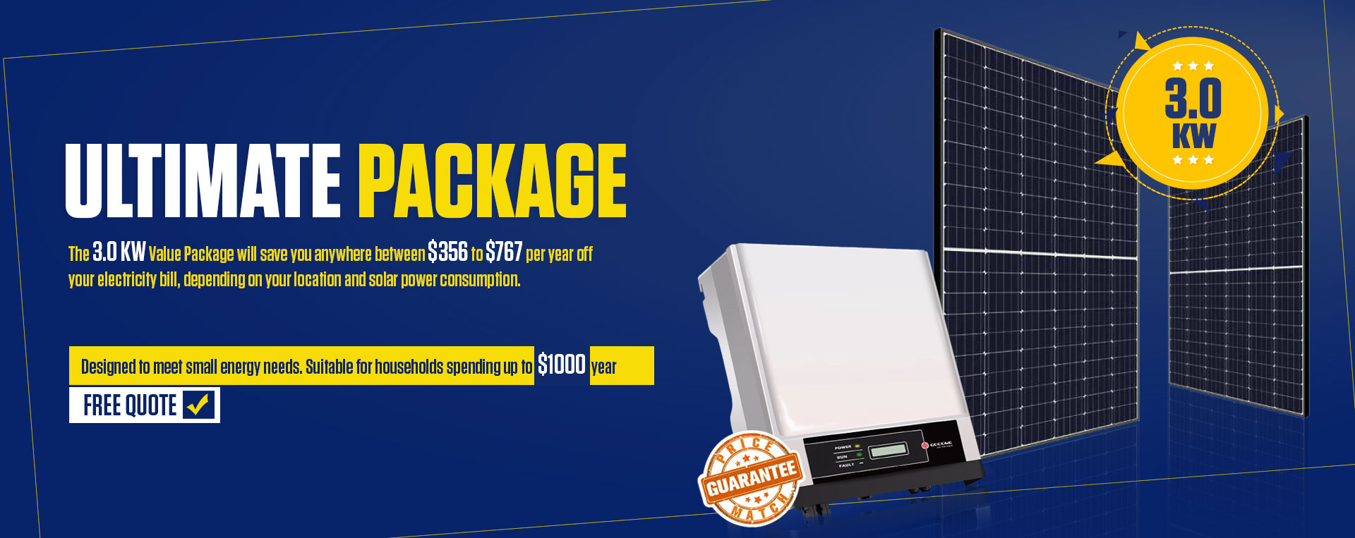 3.0 KW Value Package