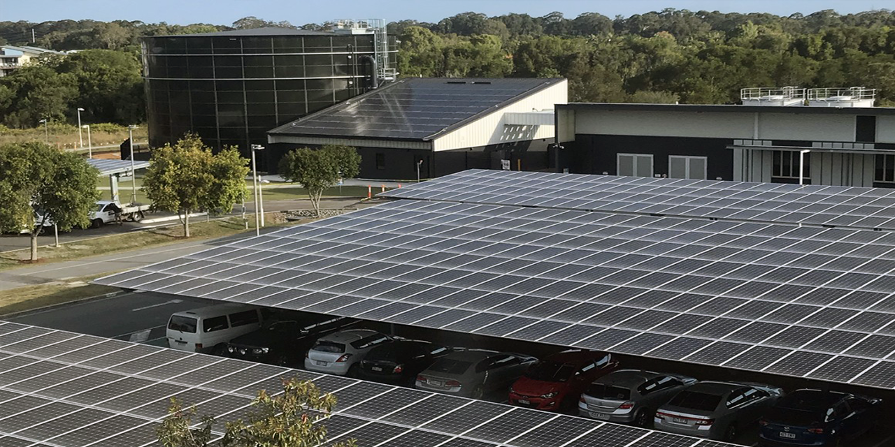 University's of SunShine energy usage is reduced by 40 percent using Three-story water battery